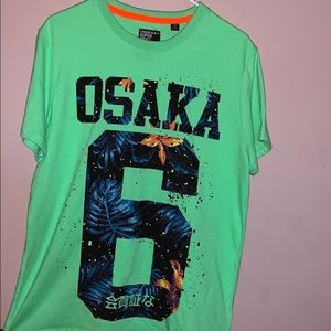 Osaka 6+ Super Dry Project neon green XL men shirt